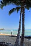 Praia de Waikiki, Honolulu, Oahu, Havaí Imagens de Stock Royalty Free