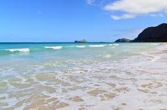 Praia de Waimanalo Imagem de Stock Royalty Free