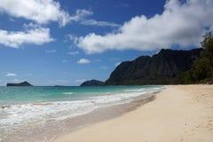 Praia de Waimanalo Fotografia de Stock