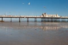Praia de Worthing, Sussex ocidental, o 17 de março de 2014 Fotos de Stock Royalty Free