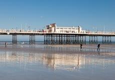 Praia de Worthing, Sussex ocidental, o 17 de março de 2014 Foto de Stock Royalty Free