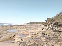 Praia de Yamba, NSW, Austrália Foto de Stock Royalty Free