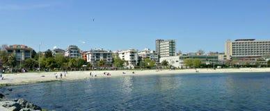 Praia de Yesilkoy, Istambul Imagem de Stock