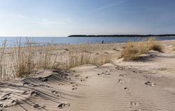 Praia de Yyteri na mola Fotografia de Stock