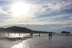 Praia de Zarautz Imagem de Stock Royalty Free