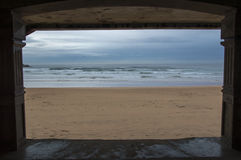 Praia de Zarautz Imagem de Stock