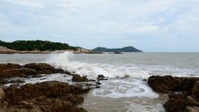 Praia de ZiZhuLin da montanha de Putuo imagens de stock royalty free