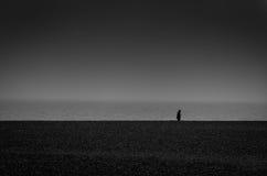 Praia desencapada Imagens de Stock