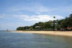 Praia desocupada em Bali Imagens de Stock Royalty Free