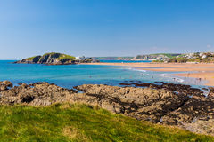 Praia Devon de Bantham imagem de stock royalty free
