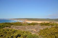 Praia a Dinamarca Bordeira, o Algarve, Portugal Imagem de Stock