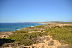 Praia a Dinamarca Bordeira, o Algarve, Portugal Fotografia de Stock Royalty Free