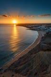 Praia a Dinamarca Luz Imagens de Stock Royalty Free