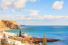 Praia a Dinamarca Luz, Lagos, o Algarve, Portugal Fotografia de Stock
