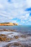 Praia a Dinamarca Luz, Lagos, o Algarve, Portugal Fotos de Stock Royalty Free