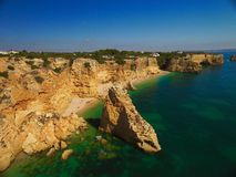 Praia a Dinamarca Marinha, o Algarve Fotos de Stock Royalty Free