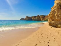 Praia a Dinamarca Marinha, o Algarve Fotografia de Stock Royalty Free