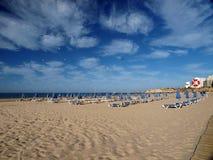 Praia a Dinamarca Rocha em Portimao Fotos de Stock