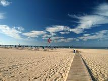 Praia a Dinamarca Rocha em Portimao Fotos de Stock Royalty Free