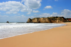 Praia a Dinamarca Rocha, o Algarve, Portugal Fotografia de Stock Royalty Free