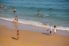 Praia a Dinamarca Salema foto de stock royalty free