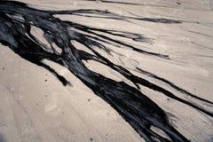 praia do óleo e da areia ilustração stock