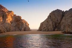 Praia do amante no Land's End imagem de stock royalty free