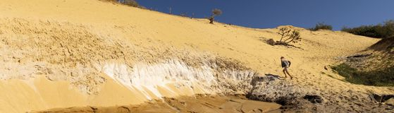 Praia do arco-íris, Queensland, Austrália fotografia de stock