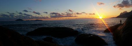 Praia do Arpoador Stock Photo