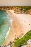 Praia do Beliche - όμορφες ακτή και παραλία του Αλγκάρβε, Portuga Στοκ Εικόνα