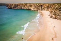 Praia do Beliche - beautiful coast and beach of Algarve, Portuga Royalty Free Stock Images
