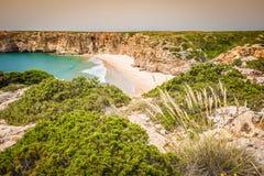 Praia do Beliche - beautiful coast and beach of Algarve, Portuga Stock Photography