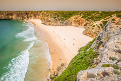 Praia do Beliche - beautiful coast and beach of Algarve, Portugal stock photos