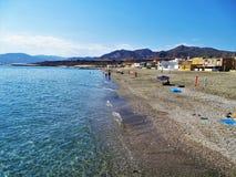 Praia do cabo de gata Adra Almeria Andalusia Spain de Bala Negra imagens de stock