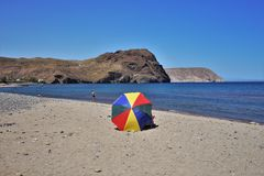 Praia do cabo de gata Nijar Almeria Andalusia Spain de Negras imagem de stock