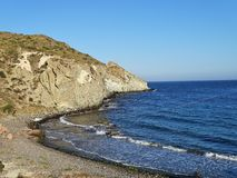 Praia do Cala Higuera San José Nijar Almeria Andalusia Spain imagens de stock