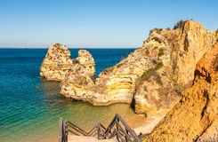 Praia Do Camilo beach in Lagos, Algarve, Portugal. Stock Photography