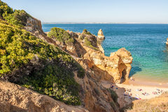 Praia Do Camilo beach in Lagos, Algarve, Portugal. Royalty Free Stock Photos