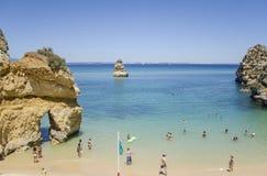 Praia do Camilo - Lagos in Algarve, Portugal Stock Afbeeldingen