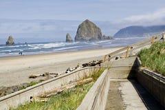 Praia do canhão Fotos de Stock Royalty Free