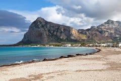 Praia do Capo de San Vito Lo Fotografia de Stock