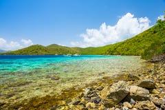 Praia do Cararibe bonita Fotos de Stock Royalty Free