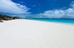 Praia do Cararibe bonita Fotografia de Stock Royalty Free