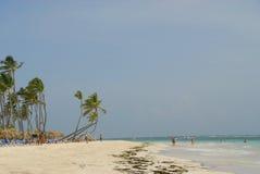 Praia do Cararibe do recurso Imagem de Stock Royalty Free