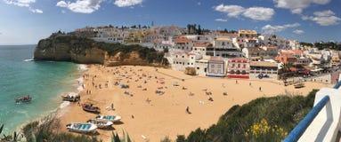 Praia do Carvoeiro πανόραμα Στοκ Φωτογραφία