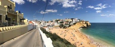 Praia do Carvoeiro πανόραμα Στοκ εικόνα με δικαίωμα ελεύθερης χρήσης