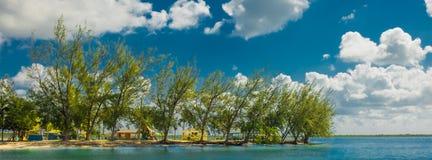 Praia do Cay-público da água imagem de stock