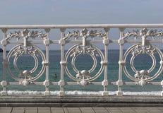 Praia do Concha do La, em San Sebastian (Espanha) foto de stock