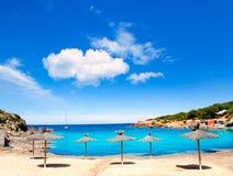 Praia do DES Lleo do en Marti Pou do canal d do console de Ibiza Fotos de Stock