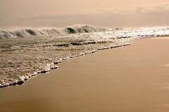 Praia do deserto Imagens de Stock Royalty Free